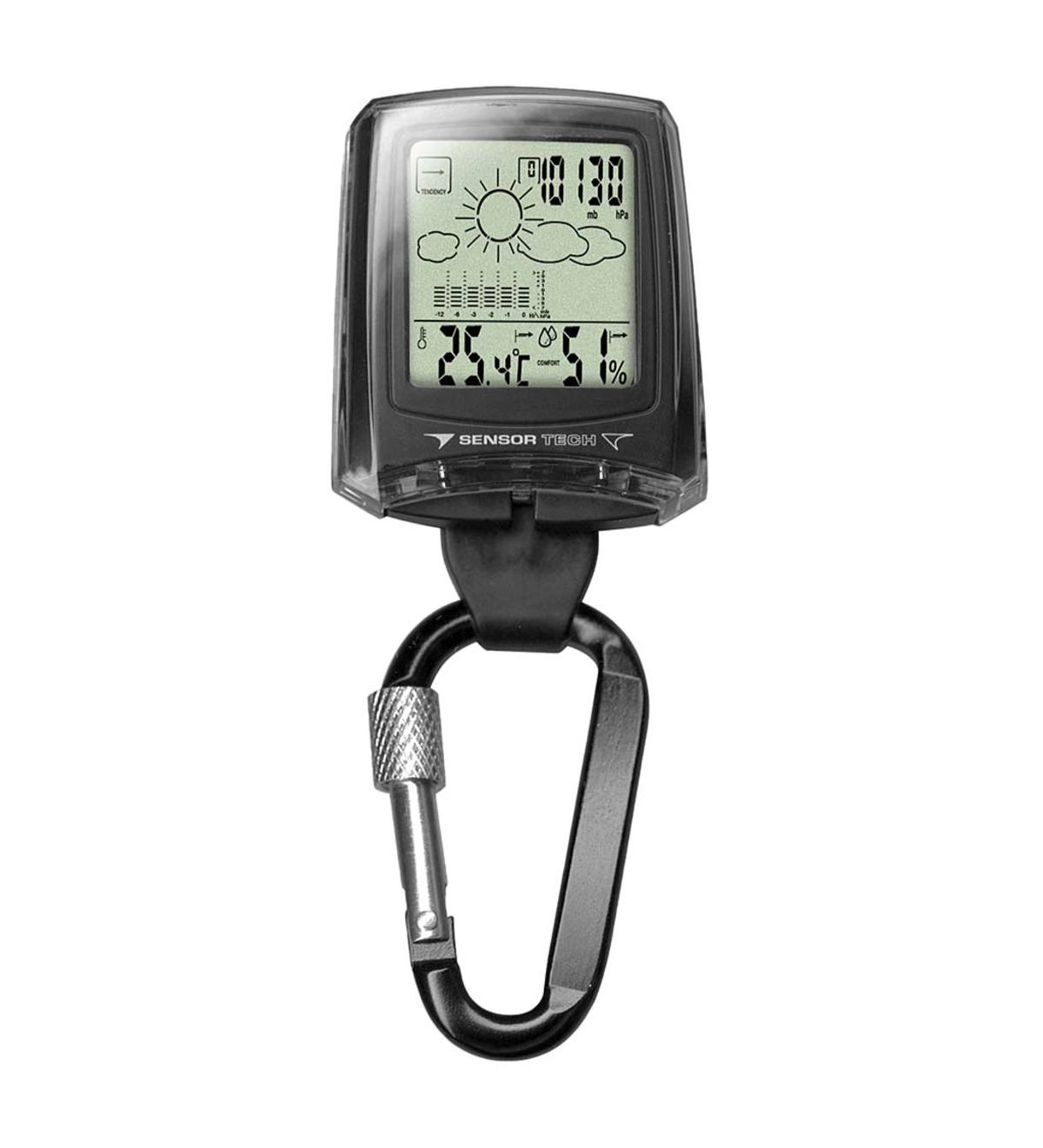 Digital Weather Station Clip Watch