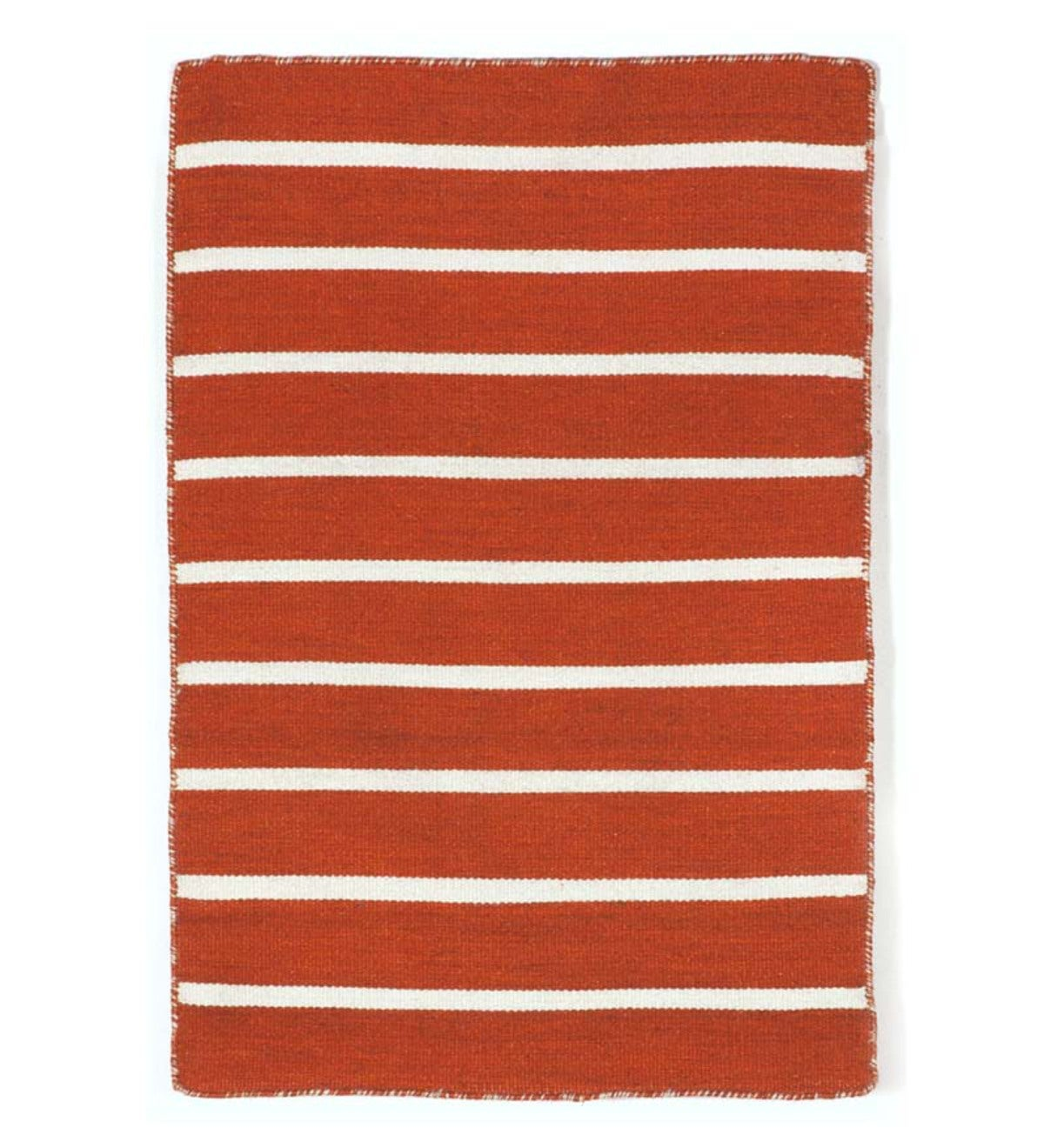 Sorrento Paprika Pinstripe Indoor/Outdoor Rug - Paprika