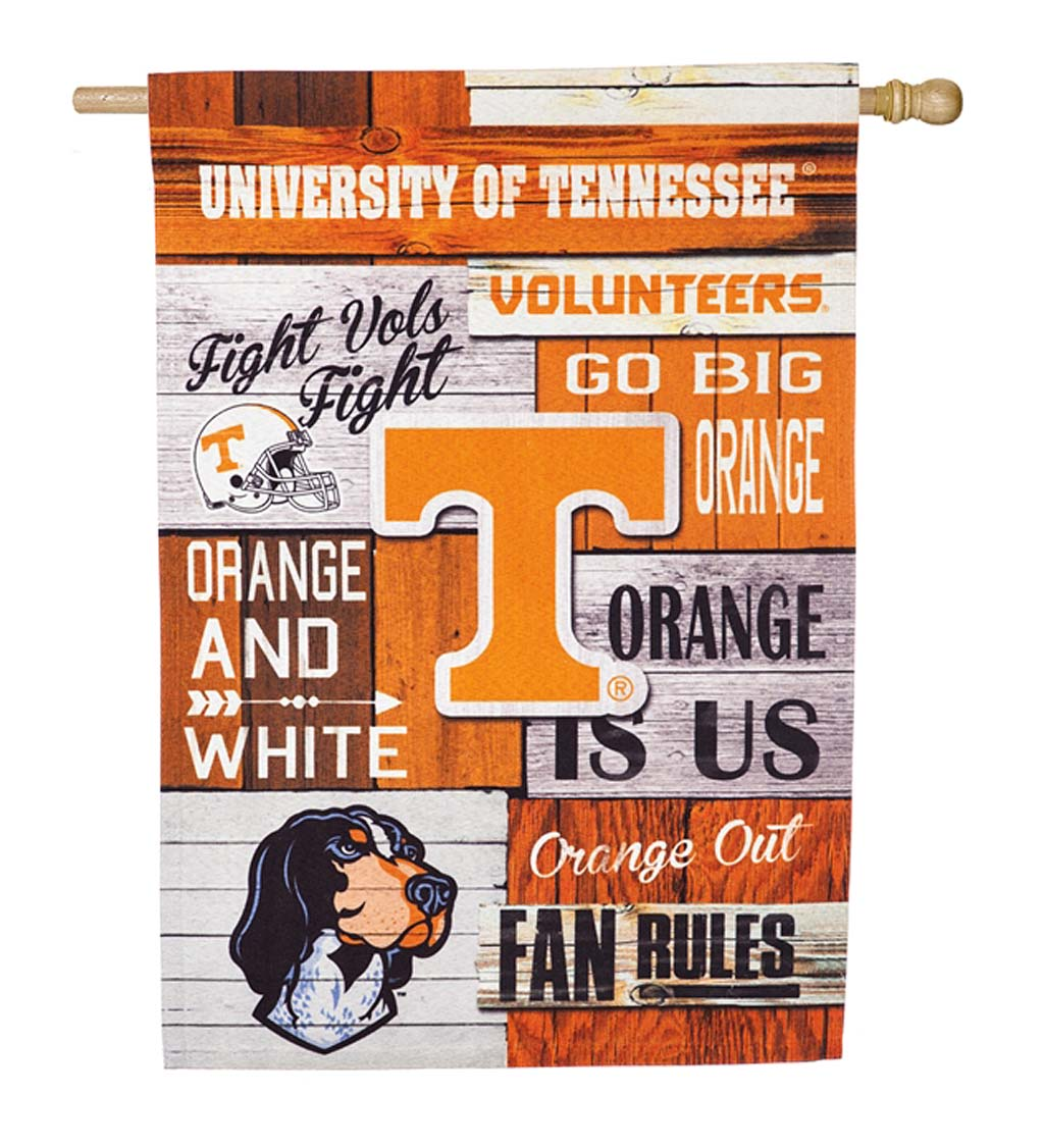 Double-Sided Fan Rules College Team Pride Linen House Flag - Univ of Tennessee