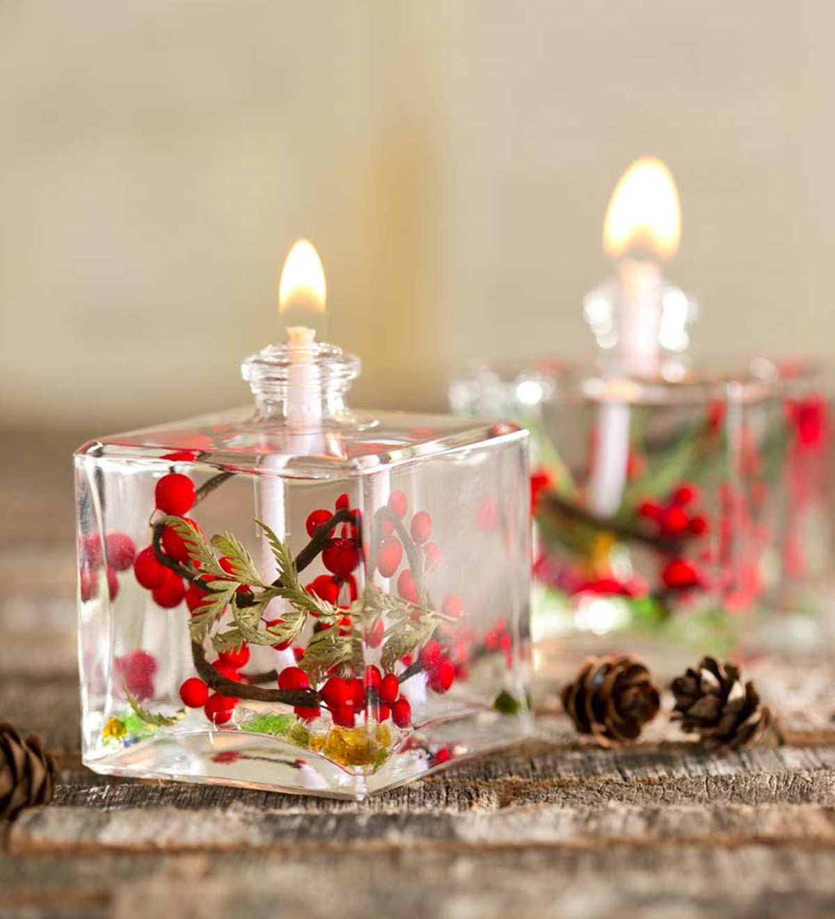 Red Berries Cube Oil Candle