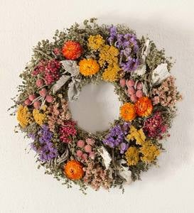 Handcrafted Organic Floral Summer Wreath