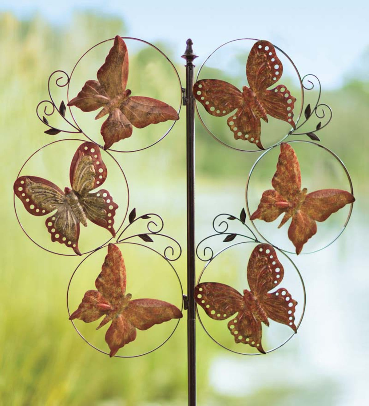 Butterflies Metal Wind Spinner | Wind and Weather