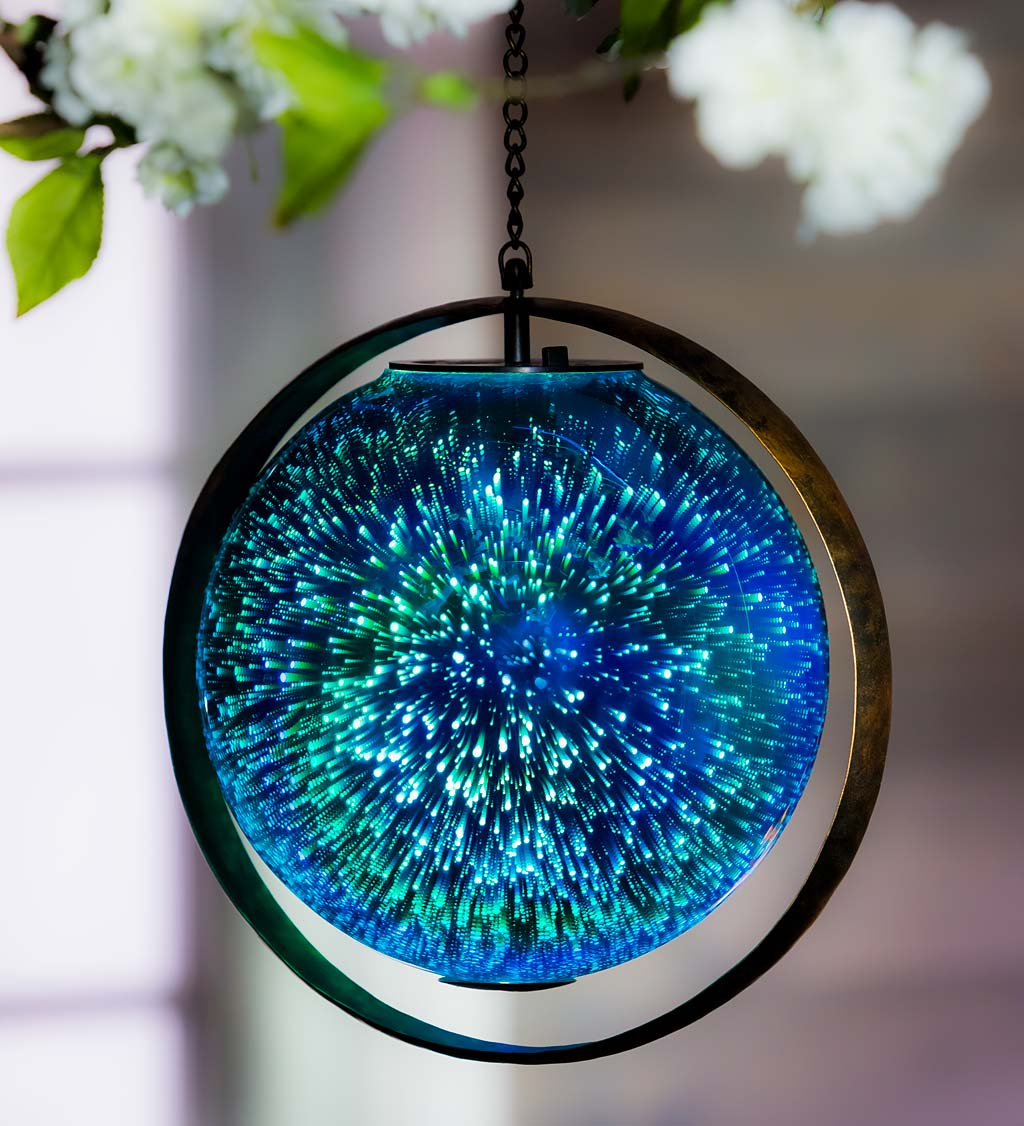 Glass Pendant with Honeycomb Roots in Blue Moon Unique Handblown