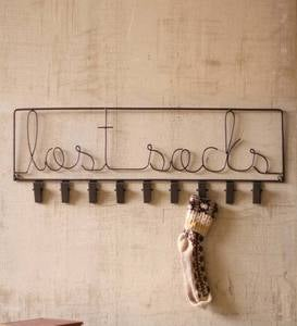 Metal Lost Sock Sign with Clips