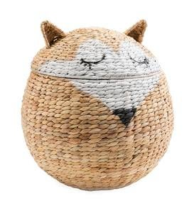 Woven Fox Storage Basket