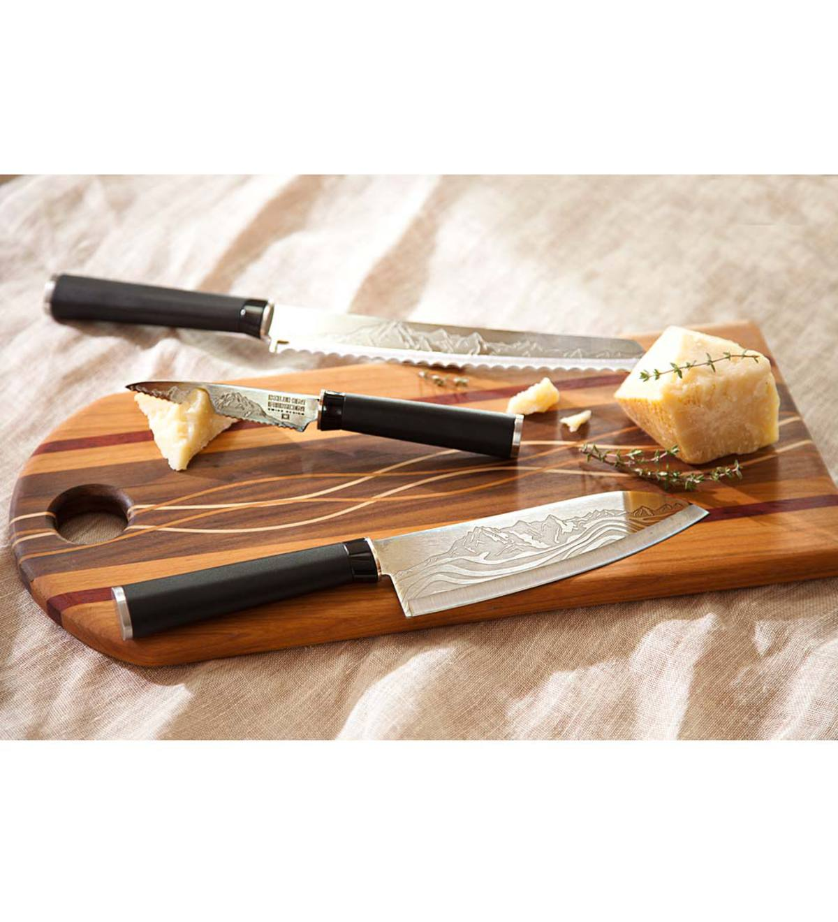 Handcrafted Wooden Bread Cutting Board