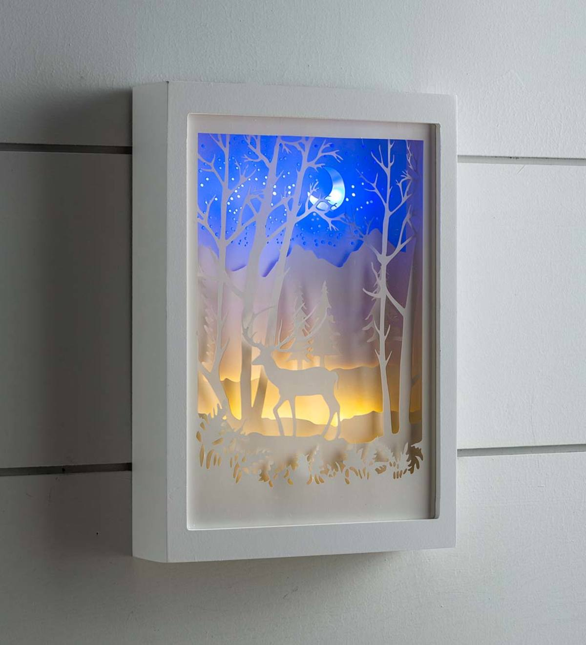 Lighted Woodland Wall Art Wind And Weather