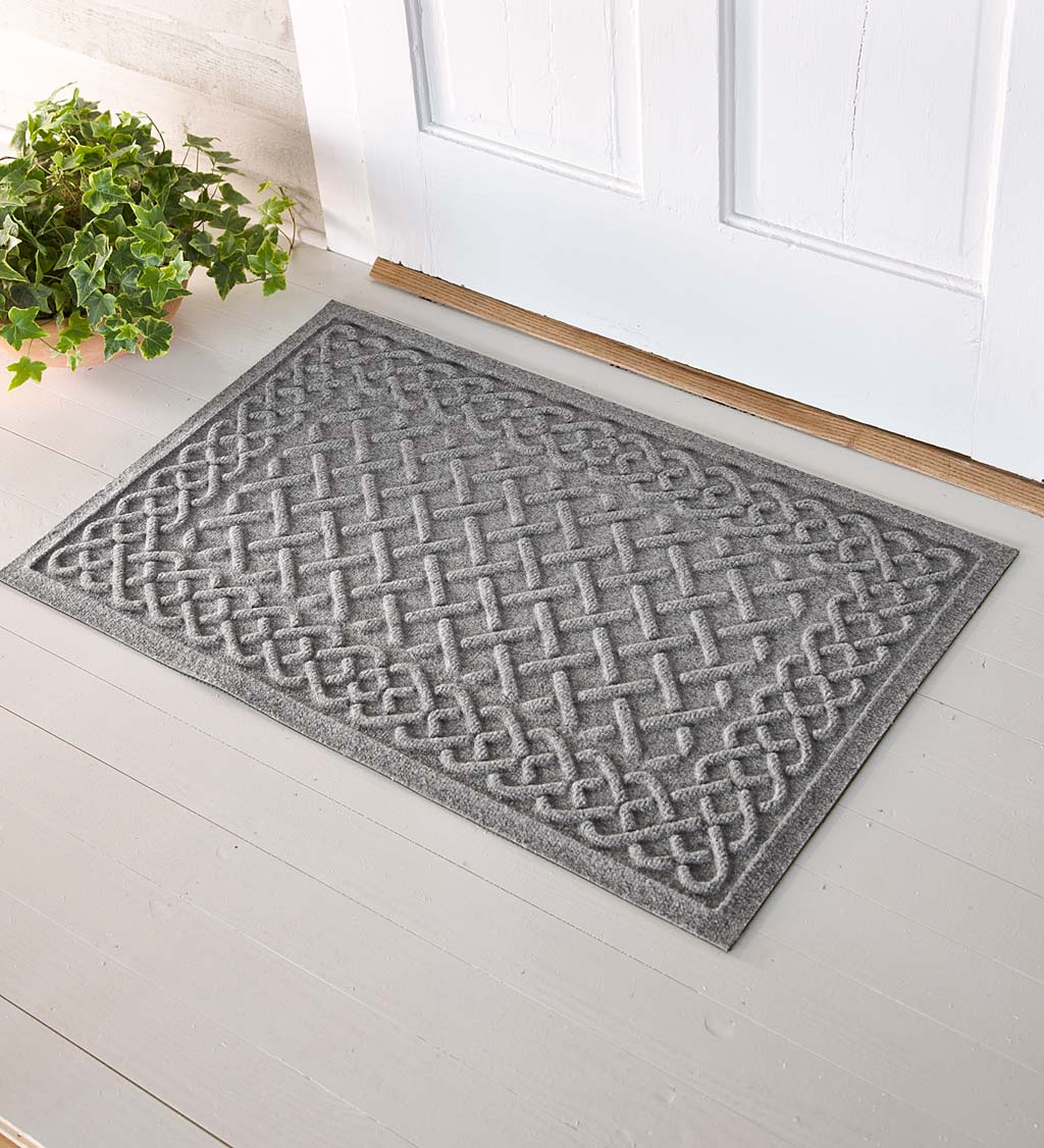 Waterhog Cable Weave Doormat, 2' x 5' - Gray