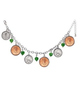Irish Coin Charm Bracelet