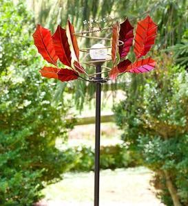 Red Leaf Solar Spinner