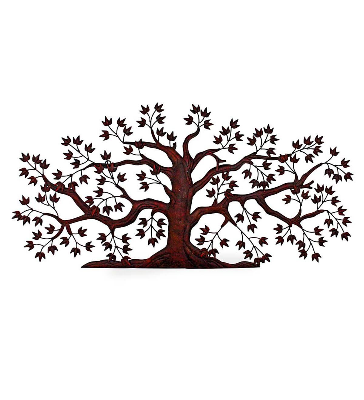 Textured Metal Tree Wall Art