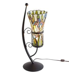 Stained Glass Vase-Style Table Lamp