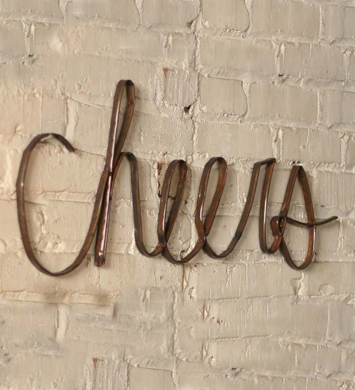 Metal Cheers Wall Sign