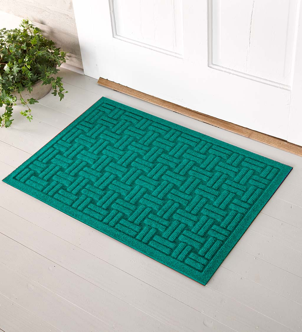 Waterhog Basket Weave Doormat, 3' x 5' - Bluestone