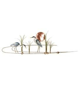 Great Blue Herons in Marsh Wall Art by Bovano
