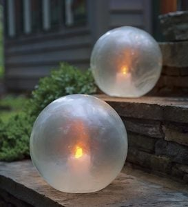 Glowing Clear Resin Globe