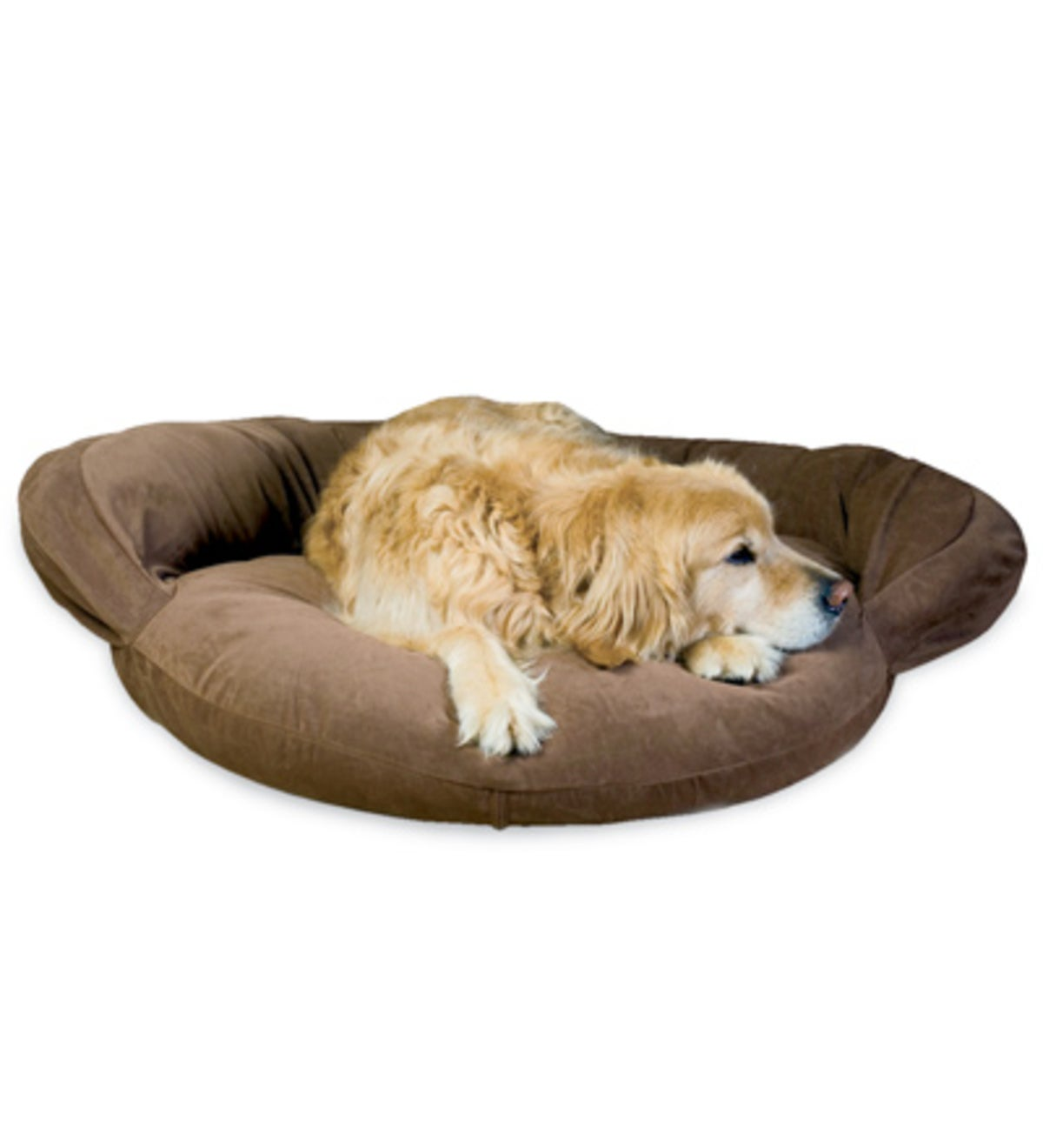Small Bolster Pet Bed - Brown