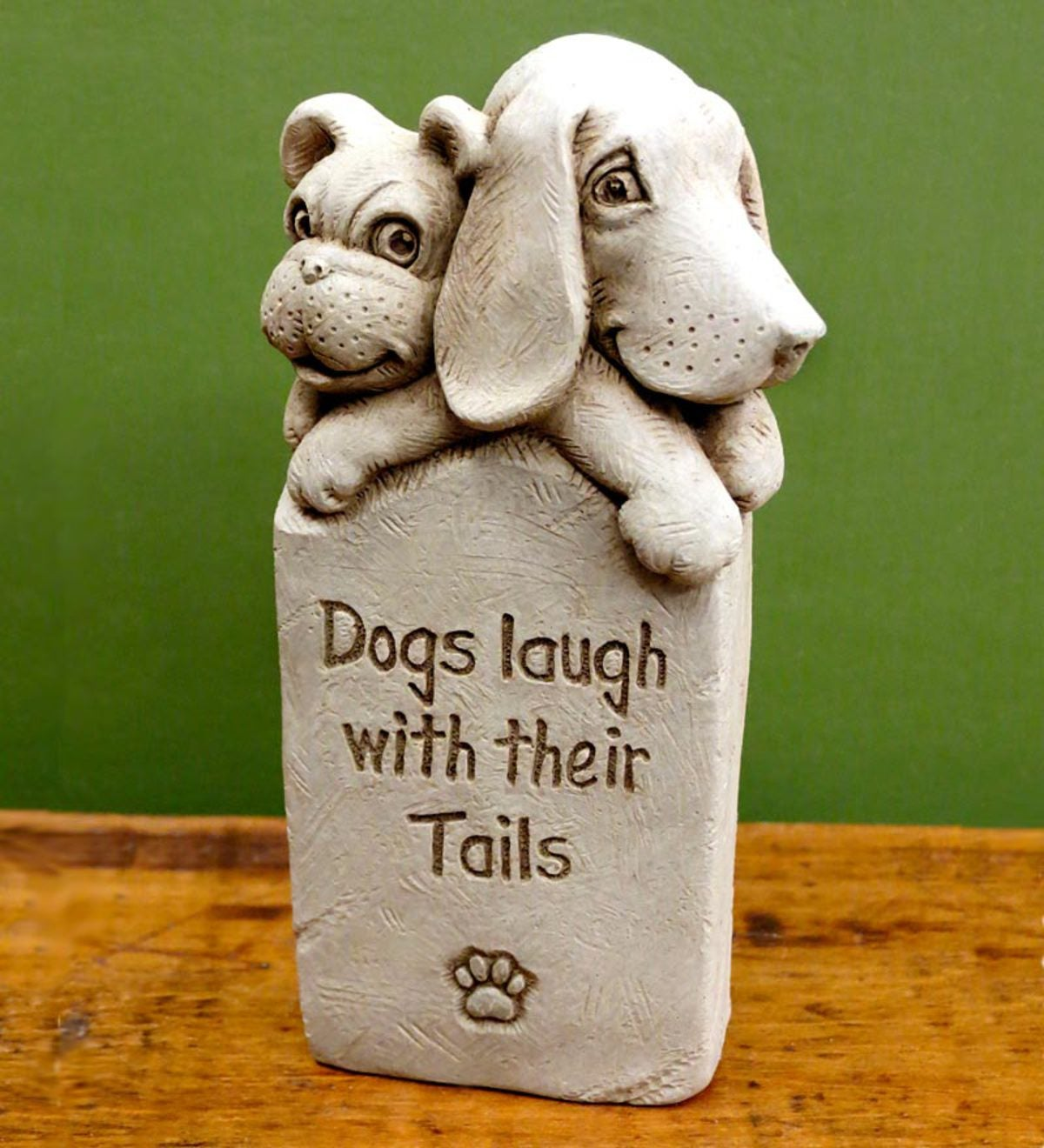 Dogs Laugh With Their Tails Plaque by Carruth Studios