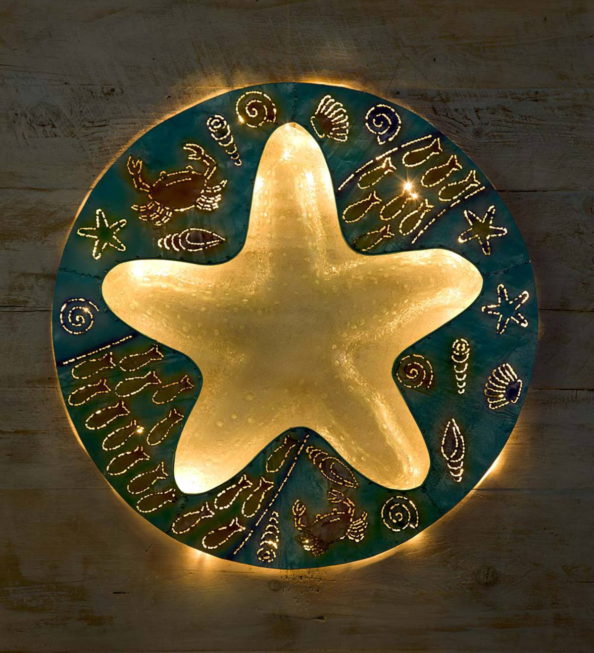 Starfish Metal and Glass Wall Art | Seaside Home Decor | New & Best ...