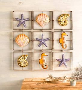 Metal Nautical Grid-Style Wall Art