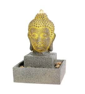 Lighted Buddha Head Fountain
