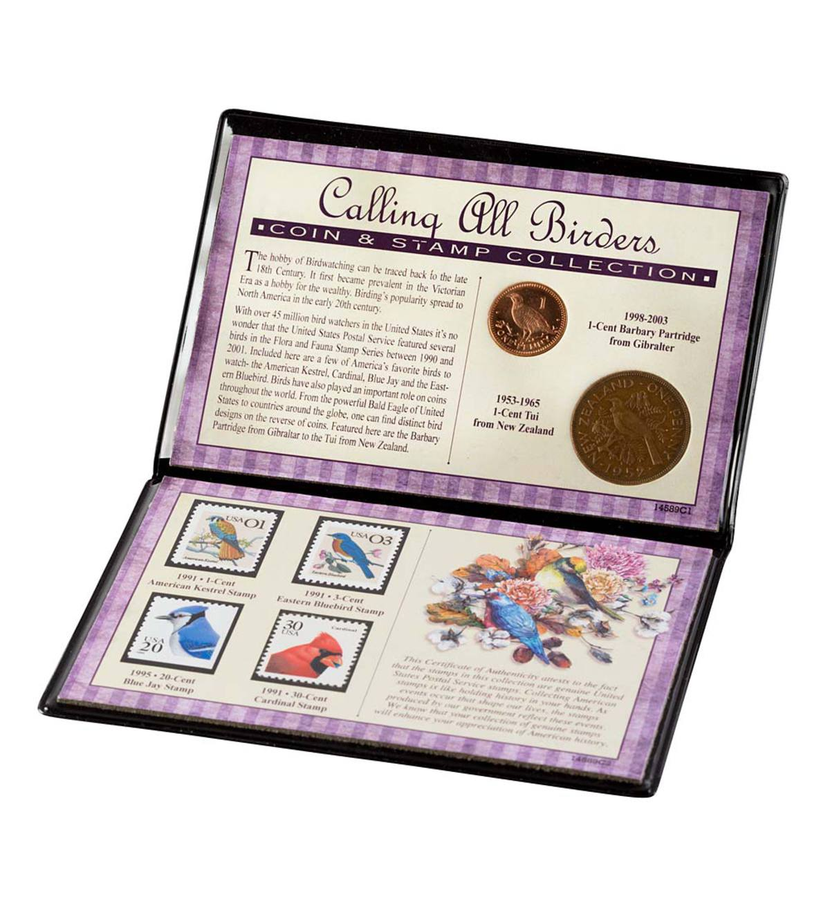 Birds Coin and Stamp Collection