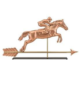 Horse and Rider Weather Vane Sculpture