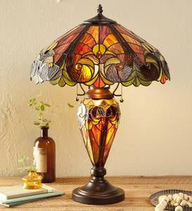 Tiffany-Inspired Stained Glass Lamp