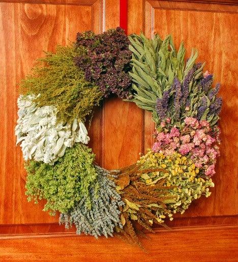Indoor Wreaths Home Decorating: Ten Dried Herb Indoor Wreath