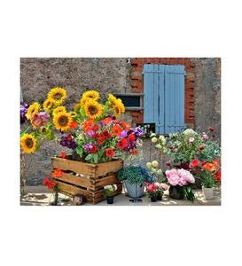 Country Market Photo Outdoor Canvas Wall Art