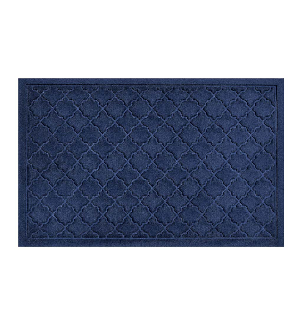 "Waterhog Indoor/Outdoor Geometric Doormat, 22"" x 60"" - Navy"