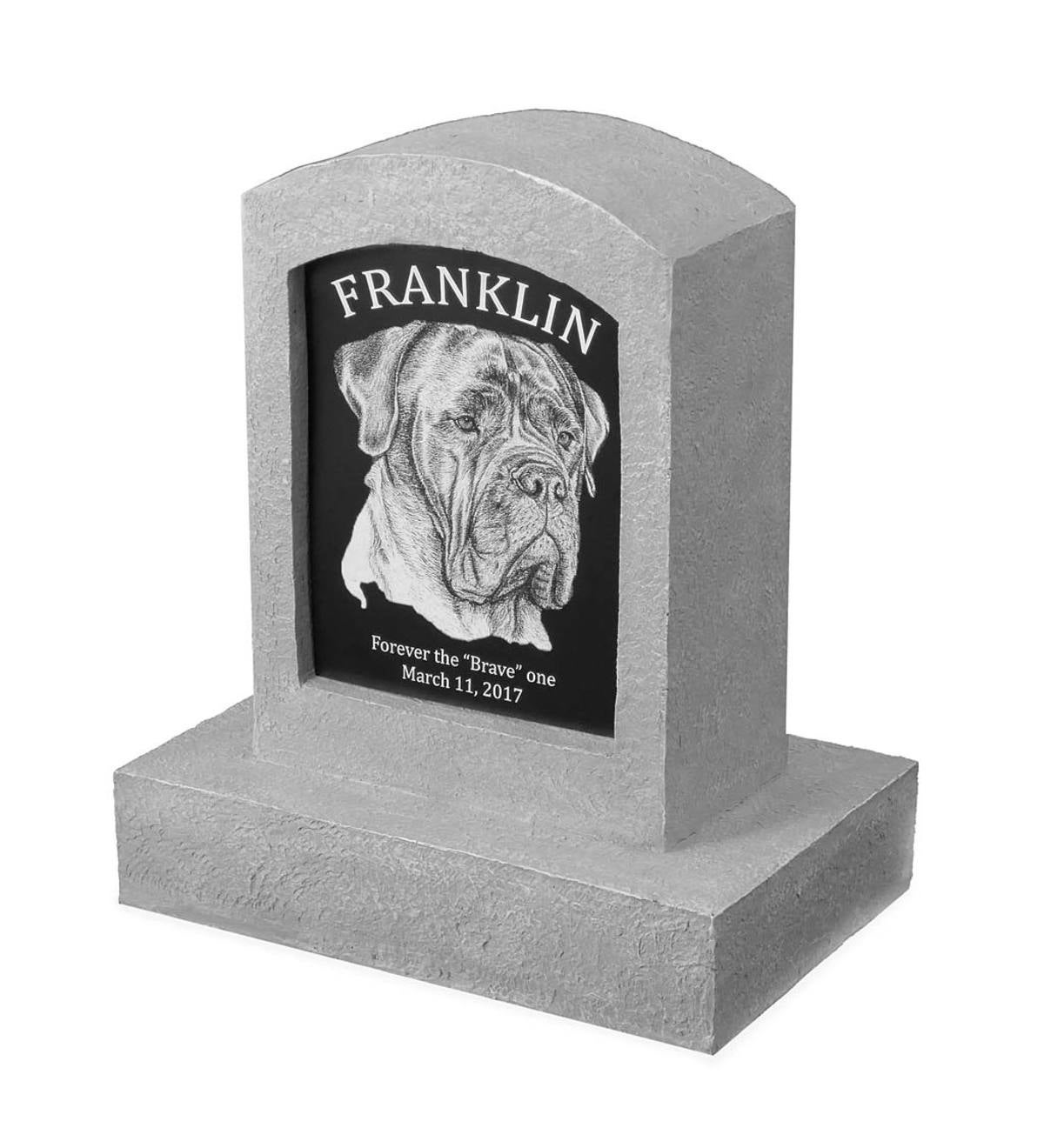 Personalized Large Pet Memorial with Image
