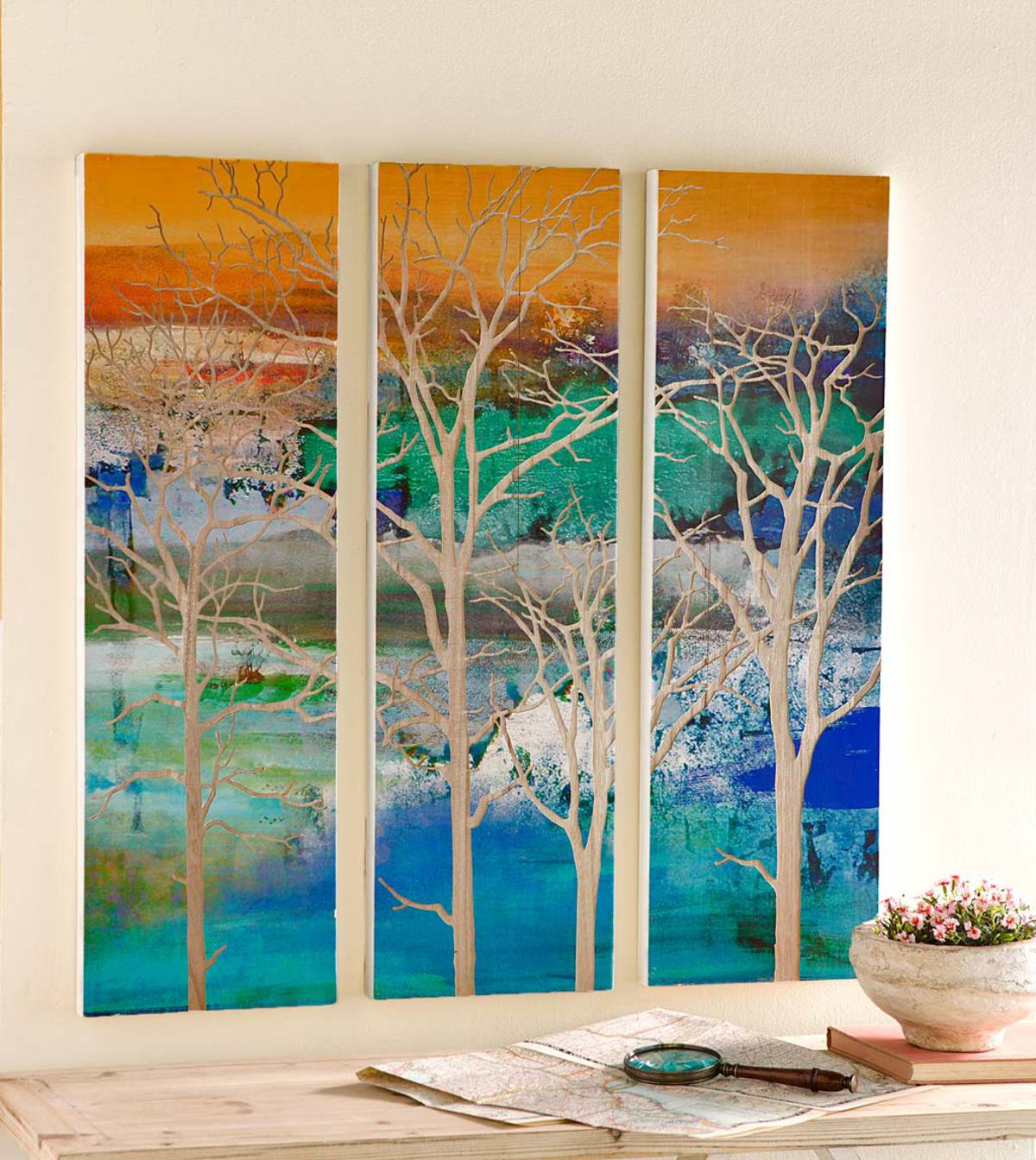 Three Panel Tree Wall Art