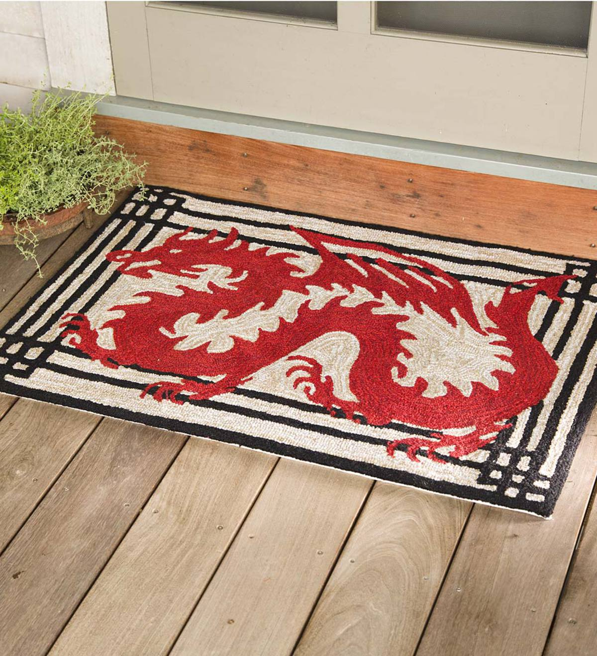Red Dragon Indoor/Outdoor Rug