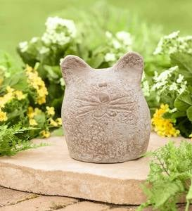 Round Happy Cat Sculpture