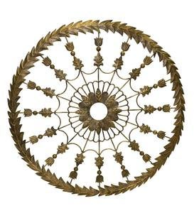 Gold-Colored Metal Ceiling Medallion