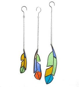 Stained Glass Feathers, Set of 3