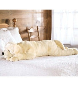 Plush Labrador Body Pillow - Yellow Lab