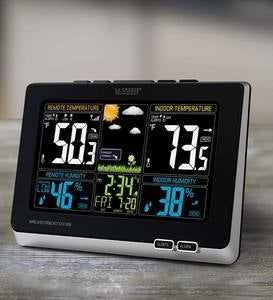 La Crosse Color-Display Weather Station with Wireless Outdoor Remote Sensore