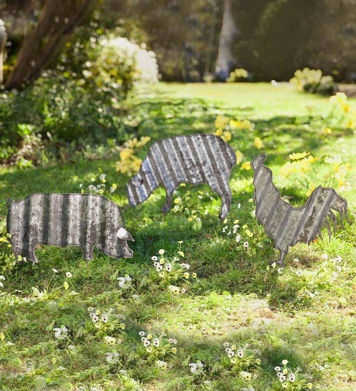 Corrugated Steel Animal Garden Stake