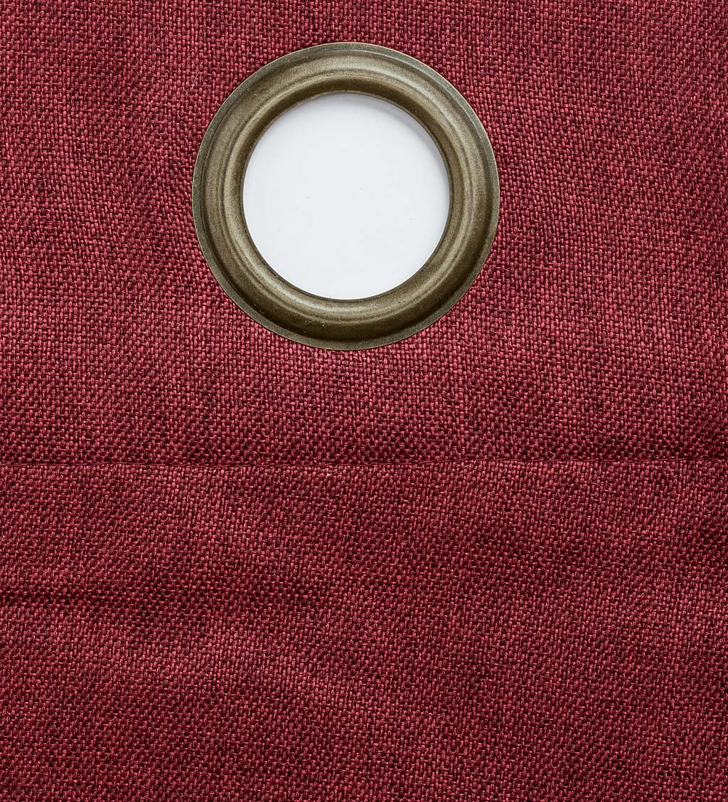 "Madison Double-Blackout Grommet Curtain Pair, 40""W x 96""L per panel - Ruby"