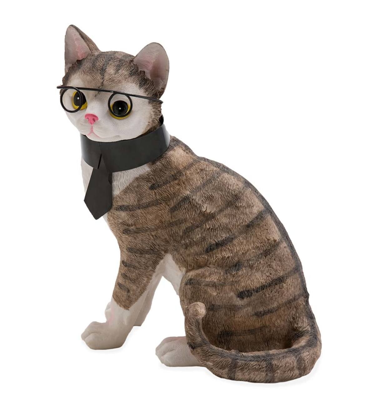 Smarty Cat with Scarf Figurine
