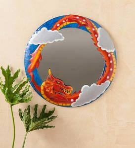 Handcrafted Metal Dragon Mirror