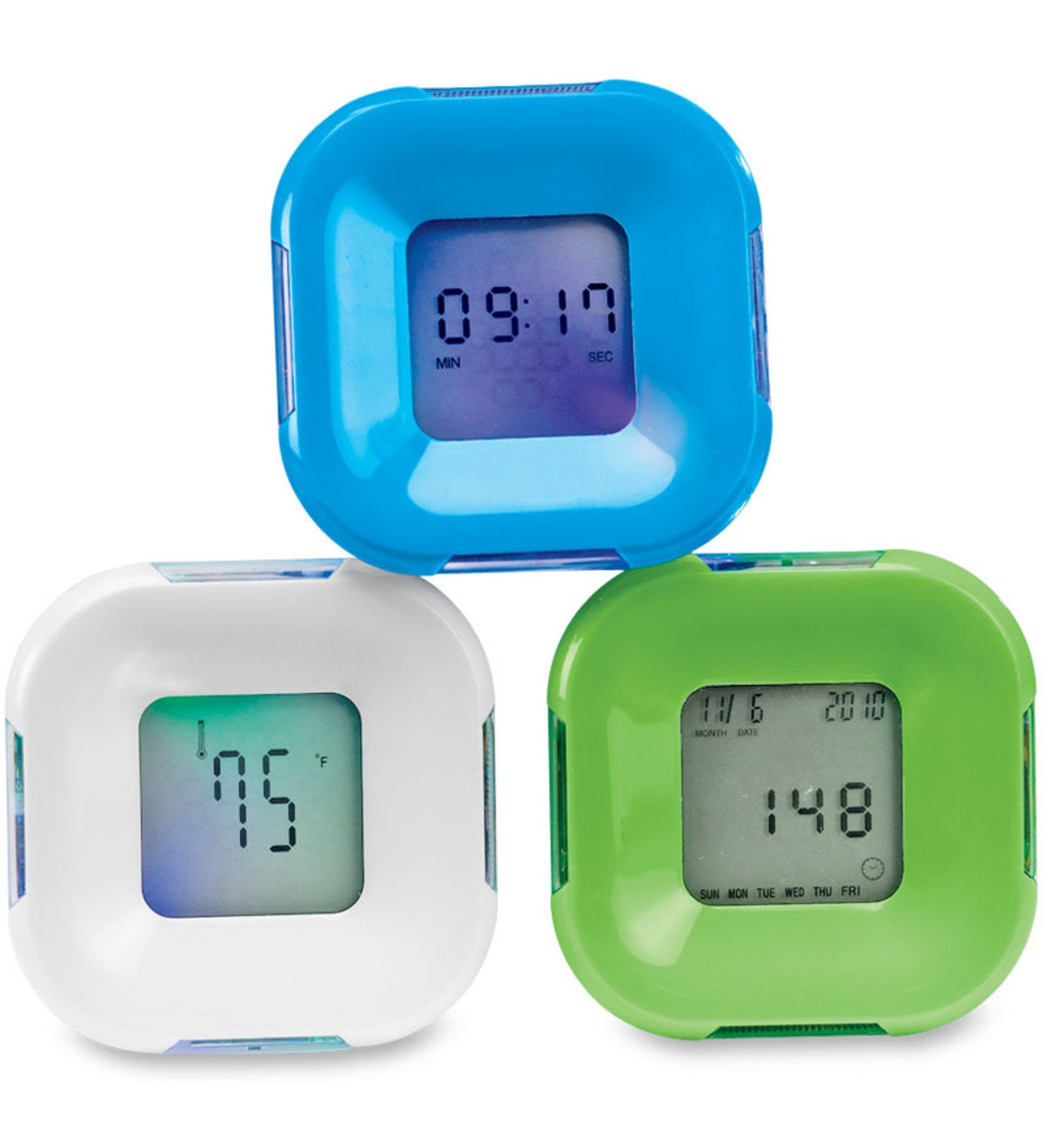 4-in-1 Digital Flip Desk Clock with Temperature, Timer and Alarm