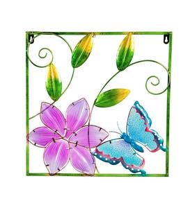 Butterfly Metal and Glass Framed Wall Art