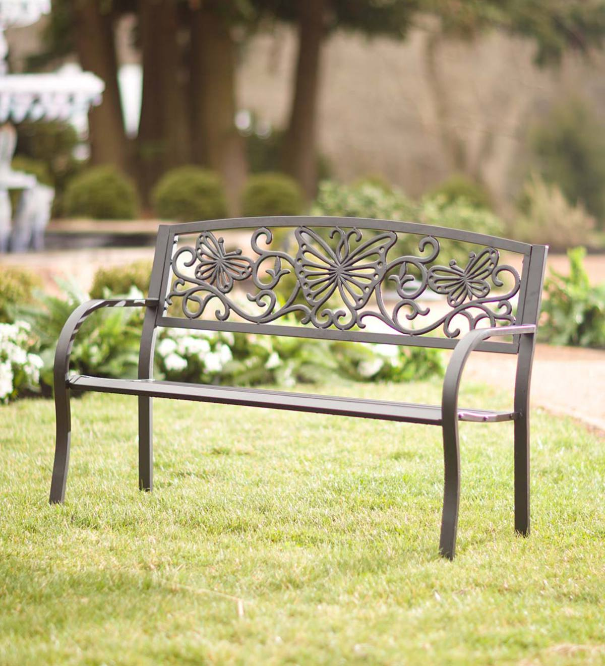Metal Butterfly Bench | Wind and Weather