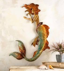 Handcrafted Metal Mermaid Wall Art