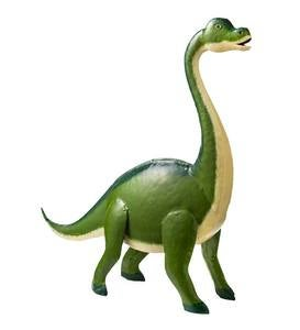 Handcrafted Green Metal Brontosaurus Dinosaur Sculpture