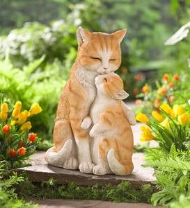 Mama Cat with Kitten Sculpture