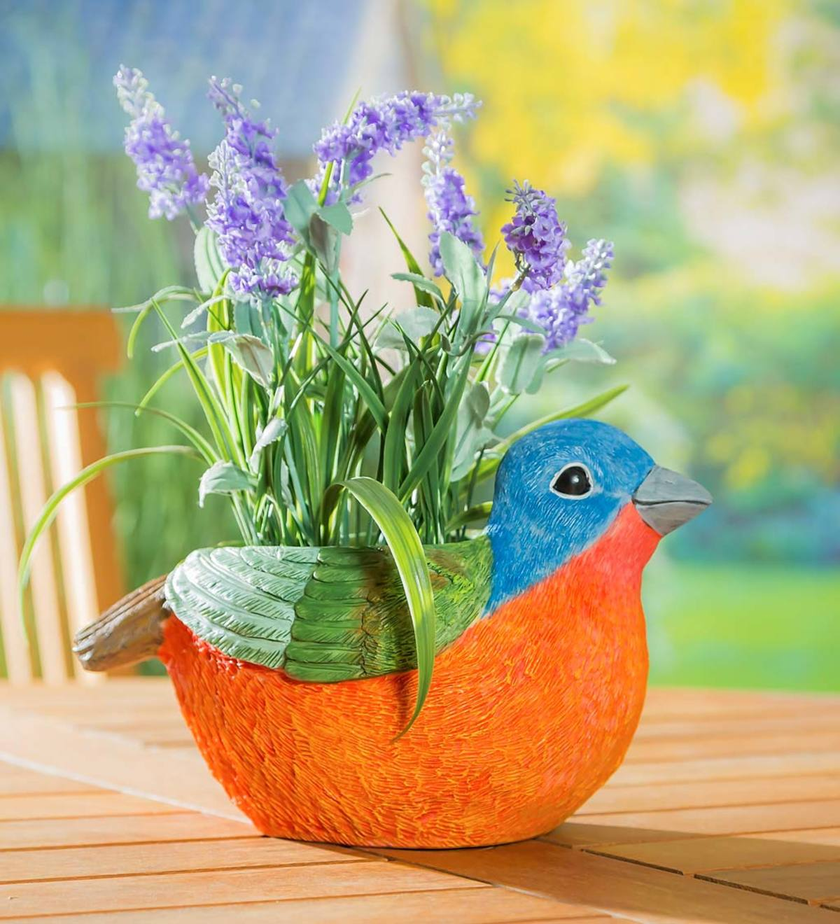 Portly Colorful Songbird Planter